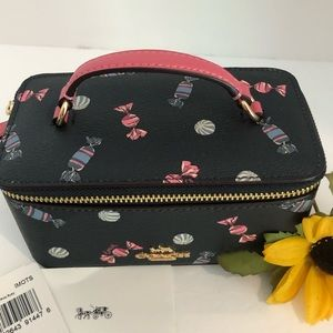 Coach Bags - 🍬 Coach Cosmetic Jewelry Vanity Case Candy Navy